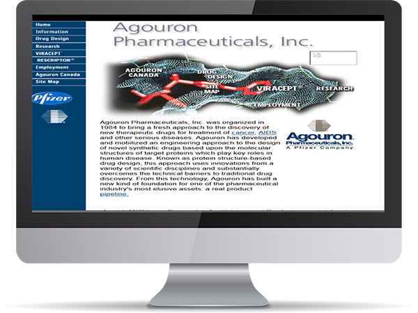 Agouron Pfizer Pharmaceuticlas Inc, GoLive by DDavisDesign Internet Marketing Tech Support