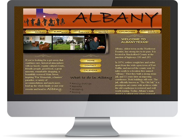 City of Albany Website GoLive by DDavisDesign Internet Marketing Tech Support