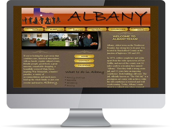 City of Albany Website GoLive by DDavisDesign Internet Marketing Tech Support