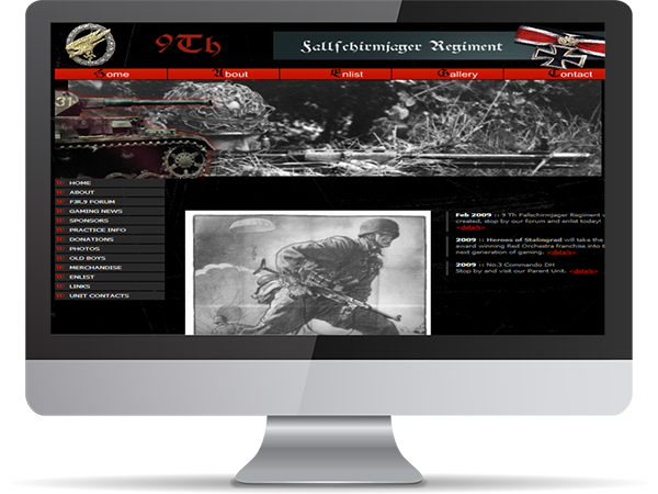 9th Fallfchirmjager Regiment Realism Unit Steam Gaming by DDavisDesign Internet Marketing Tech Support