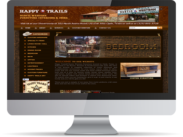 Happy Trails Rustic Western Furniture by DDavisDesign Internet Marketing Tech Support