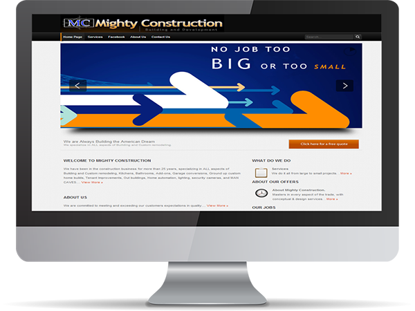 Mighty Construction by DDavisDesign Internet Marketing Tech Support