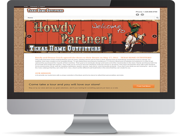 Texas Home Outfitters by DDavisDesign Internet Marketing Tech Support