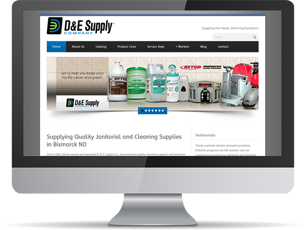 D&E Supply Company Vision Fillers by DDavisDesign Internet Marketing Tech Support