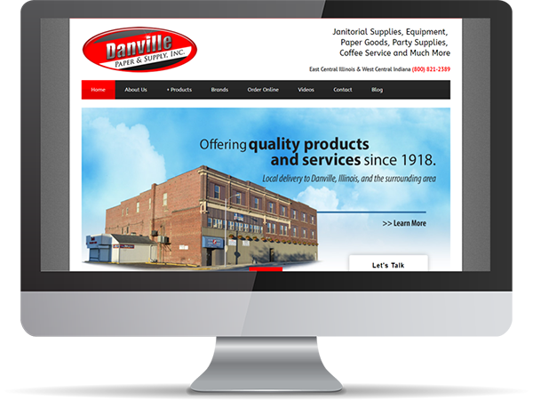 Danville Paper & Supply Inc Vision Fillers by DDavisDesign Internet Marketing Tech Support