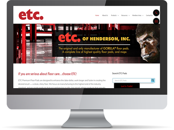 ETC of Henderson, inc Vision Fillers DDavisDesign Internet Marketing Tech Support
