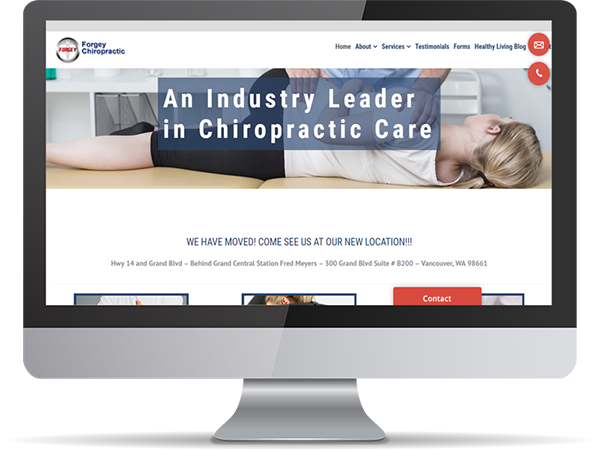 Forgey Chiropractic Vision Fillers DDavisDesign Internet Marketing Tech Support