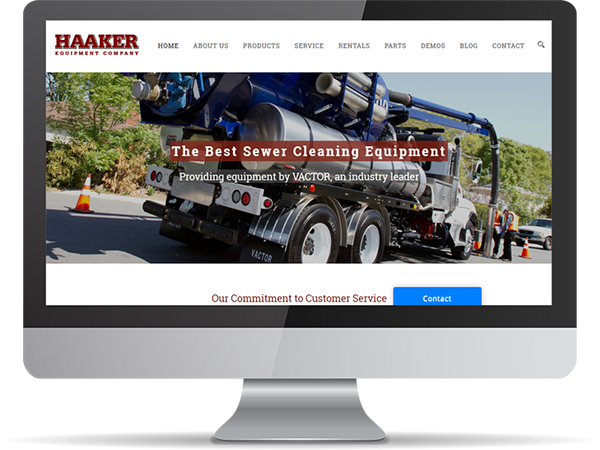 Haaker Equipment Company Vision Fillers DDavisDesign Internet Marketing Tech Support