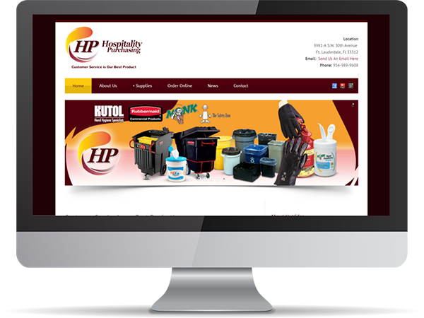 HP Hospitality Purchasing Vision Fillers DDavisDesignInternet Marketing Tech Support